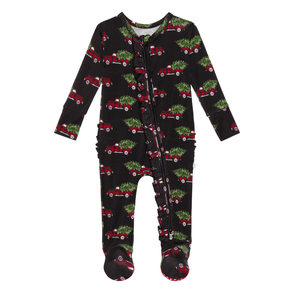 Levi Ruffled Zippered Footie - Project Nursery