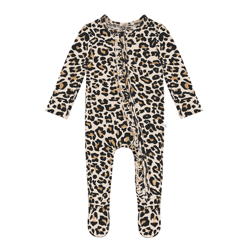 Lana Leopard Ruffled Footie - Project Nursery