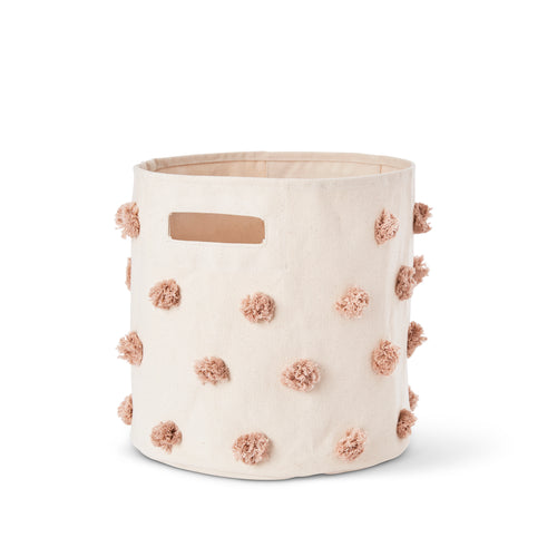 Pom Pom Storage Bin - Rose Pink - Project Nursery