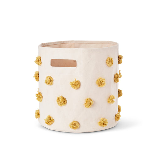 Pom Pom Storage Bin - Marigold - Project Nursery