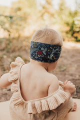 Black Pine Printed Knot Headband - Project Nursery