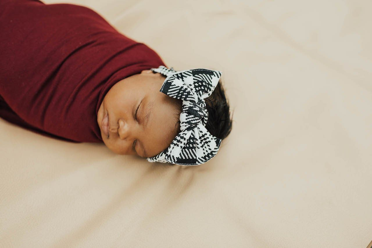 Knitted Plaid Knot Headband - Project Nursery