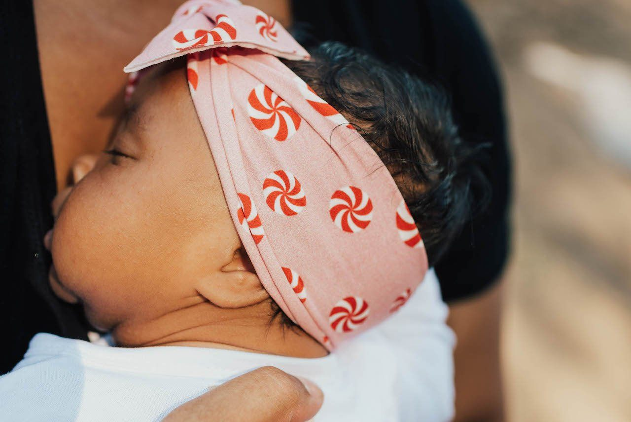 Pink Peppermint Printed Knot Headband - Project Nursery