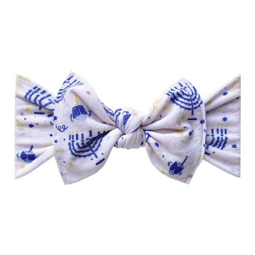 Menorah Printed Knot Headband Accessory Baby Bling