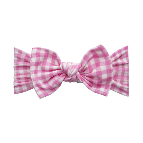 Pink Check Knot Headband - Project Nursery