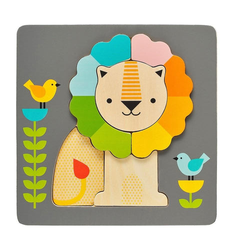 Chunky Lion Wood Tray Puzzle - Project Nursery