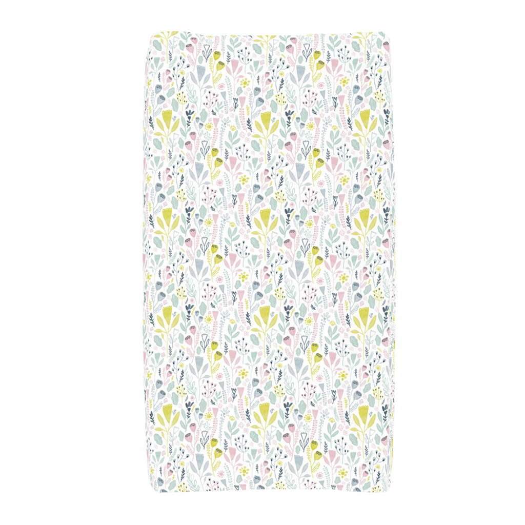 Pink Woodland Changing Pad Cover - Project Nursery