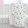 Pink Mountains Crib Comforter