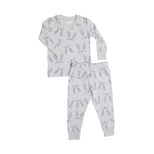 Bunny Two-Piece Pajama Set - Gray - Project Nursery