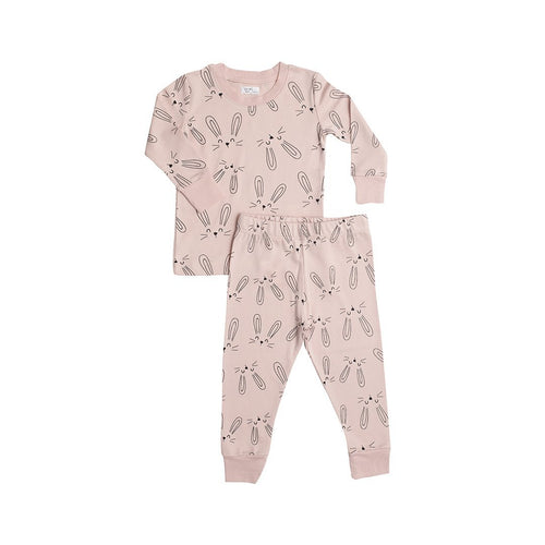 Bunny Two-Piece Pajama Set - Pink - Project Nursery
