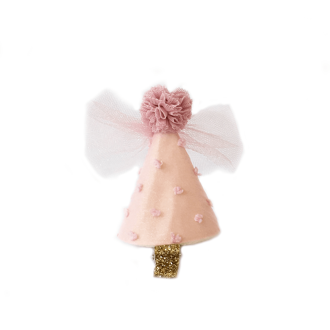 Dotty Party Hat Hair Clip - Project Nursery