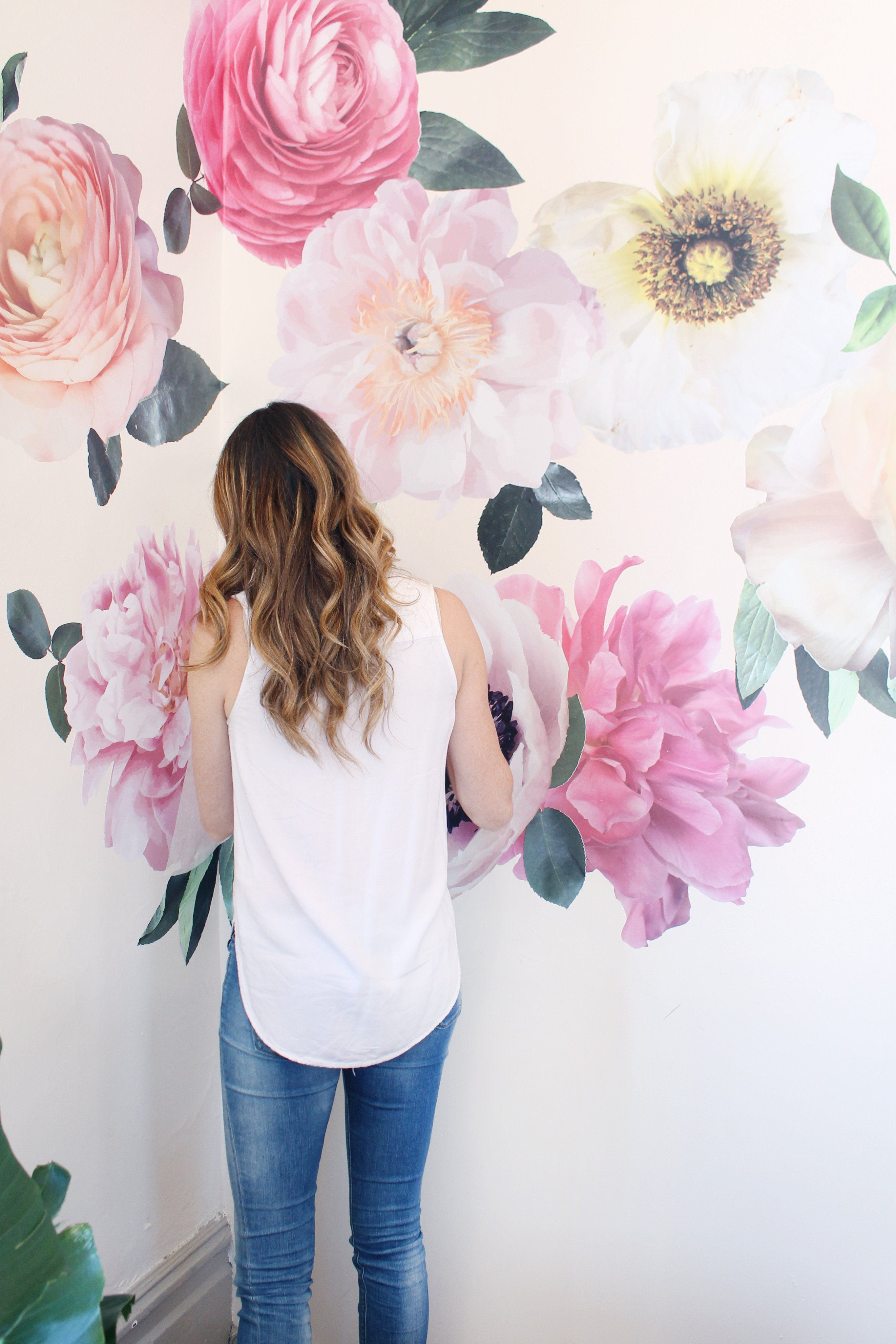 Beautiful Pastel Garden Flowers Wall Decals   Project Nursery
