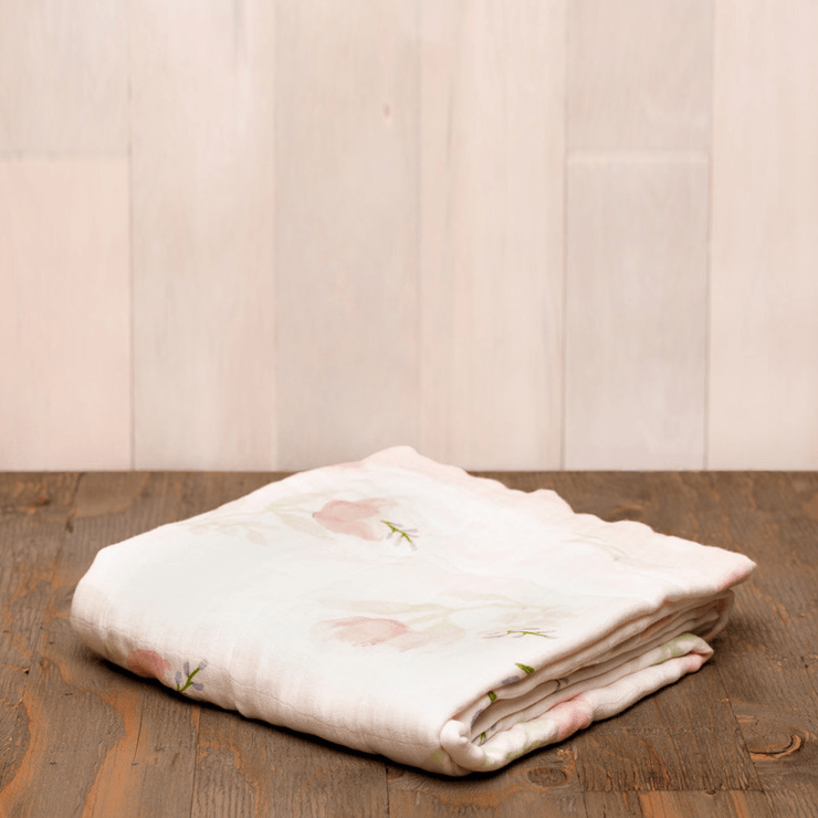 Deluxe Muslin Quilt in Pink Peony  - The Project Nursery Shop - 2