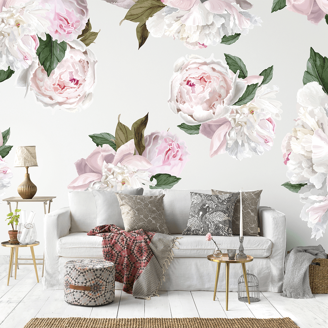 Peony Wall Decals Peony Flower Wall Decals Project Nursery