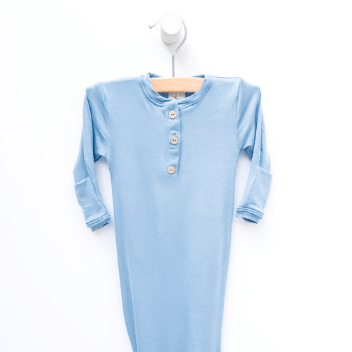 Solid Periwinkle Blue Sleep Gown - Project Nursery