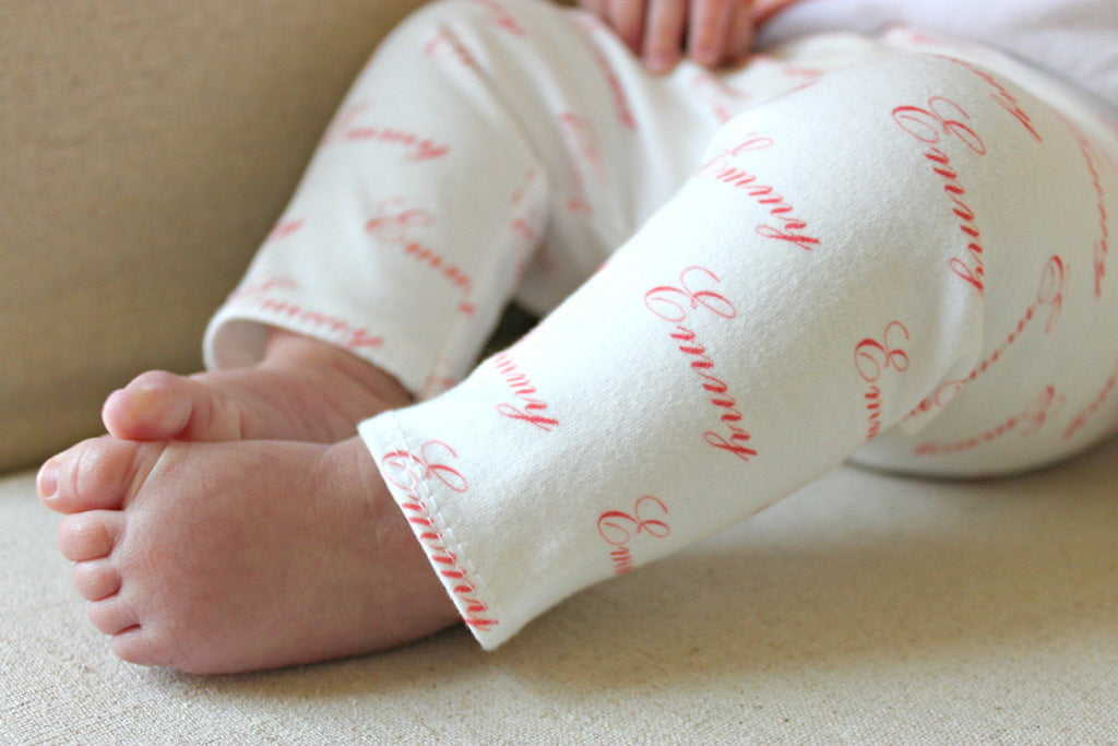 Personalized Name Leggings 0-3 / Coral - The Project Nursery Shop - 2
