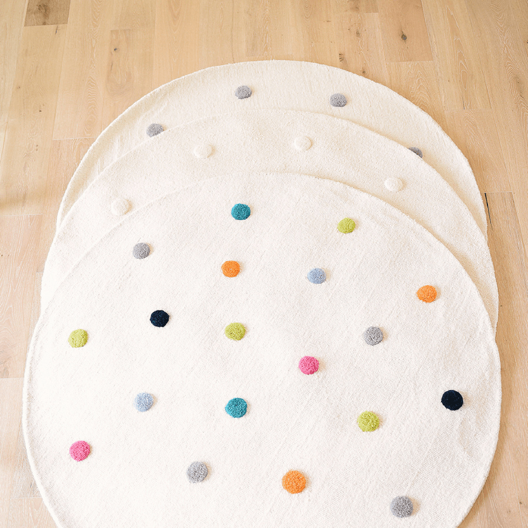 Grey Pom Pom Rug - Project Nursery
