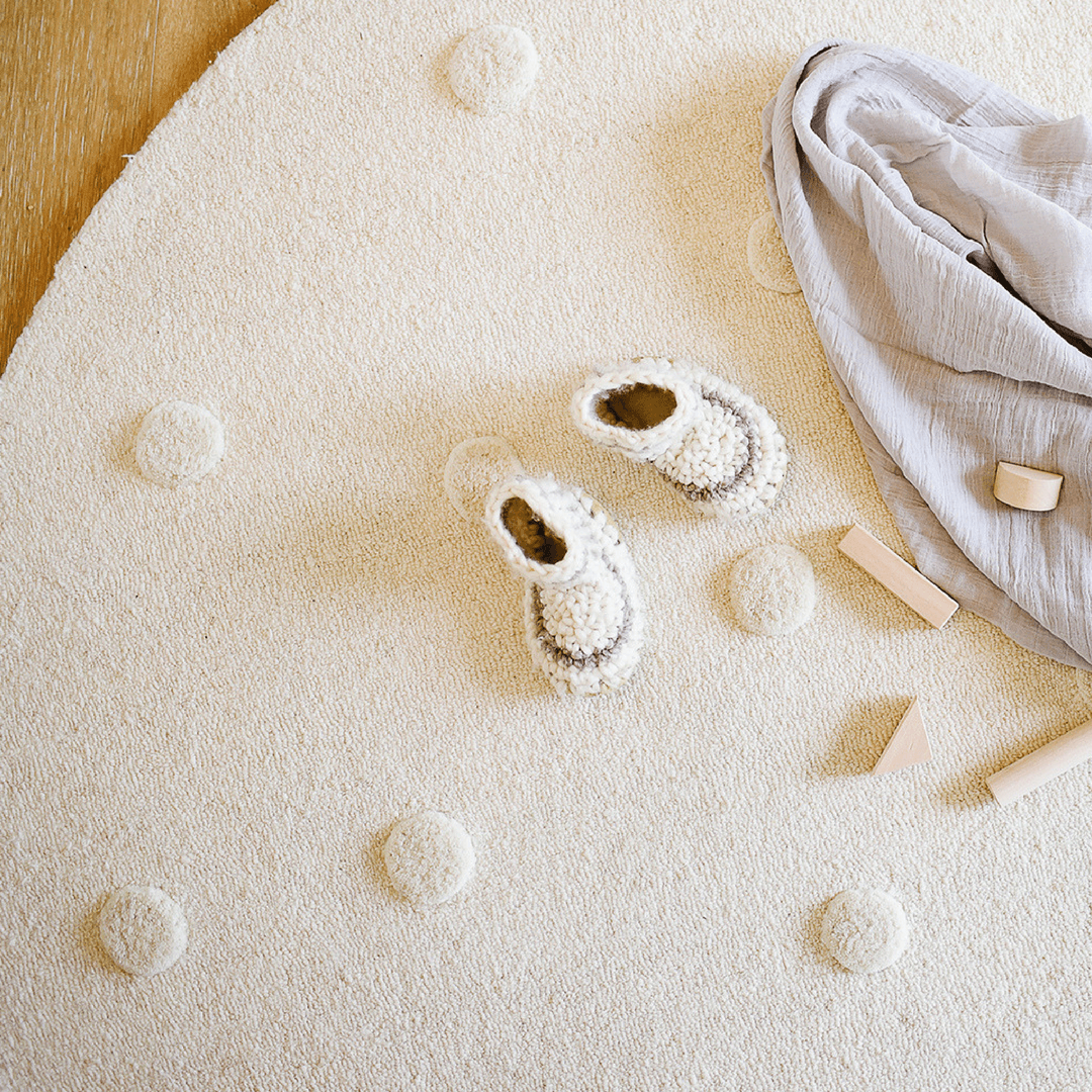 Ivory Pom Pom Rug - Multiple Sizes - Project Nursery