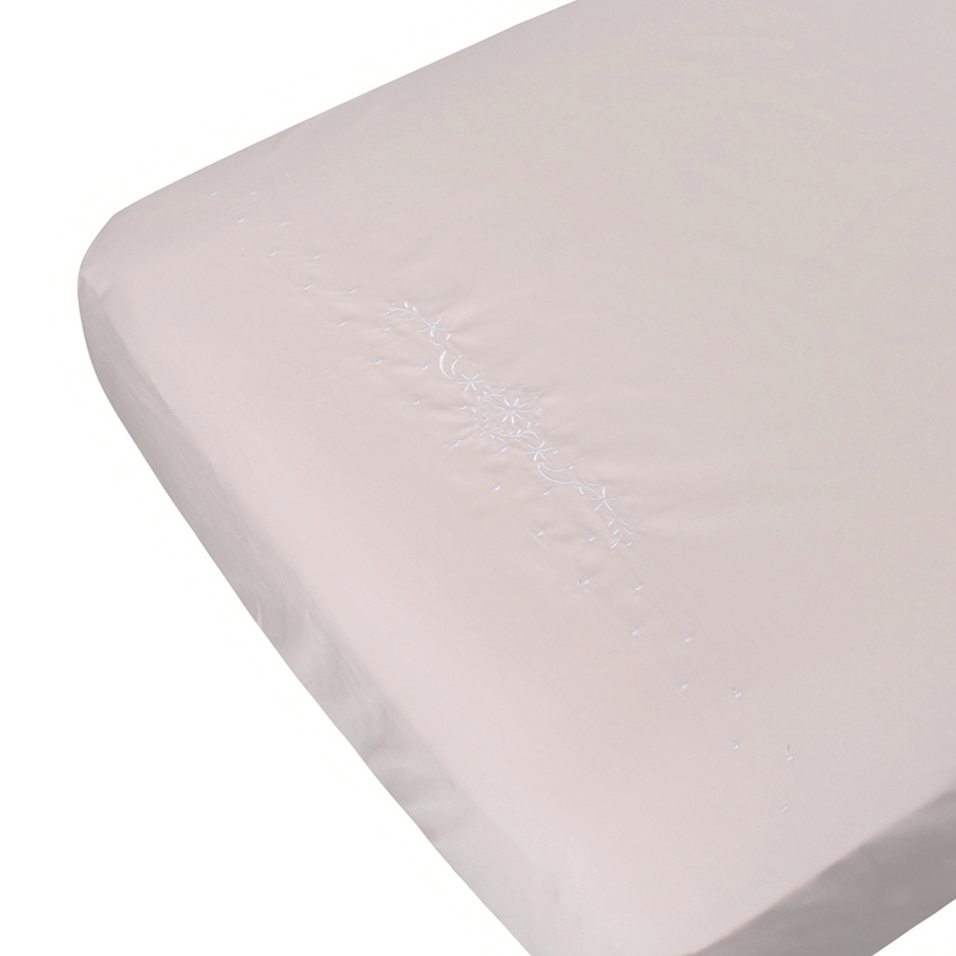 Belle Pink Fitted Crib Sheet - Project Nursery