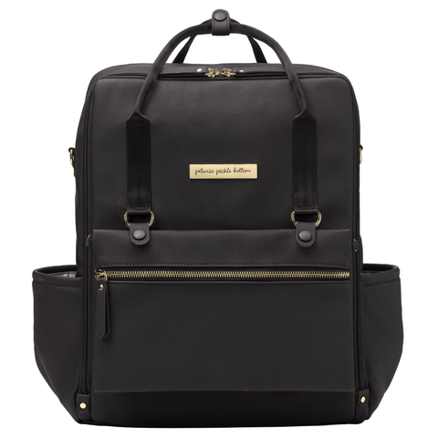 Stevie Luxe Diaper Bag - Black