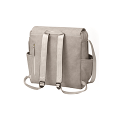 Boxy Backpack - Gray Matte Leatherette - Project Nursery