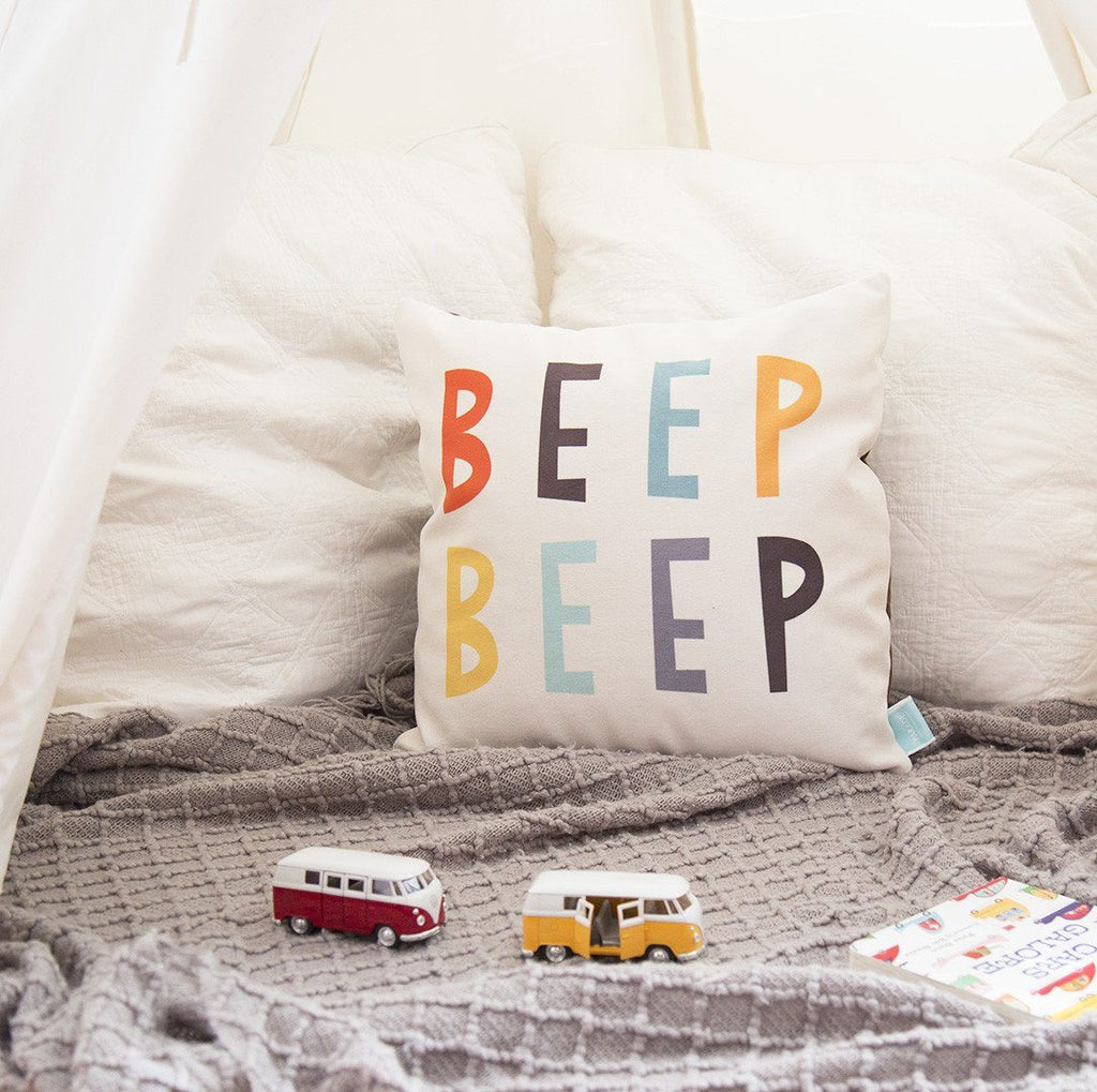Beep Beep Pillow Cover  - The Project Nursery Shop - 2