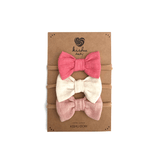 Solid Baby Bow Set - Pink  - The Project Nursery Shop