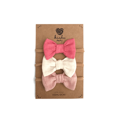 Solid Baby Bow Set - Pink - Project Nursery