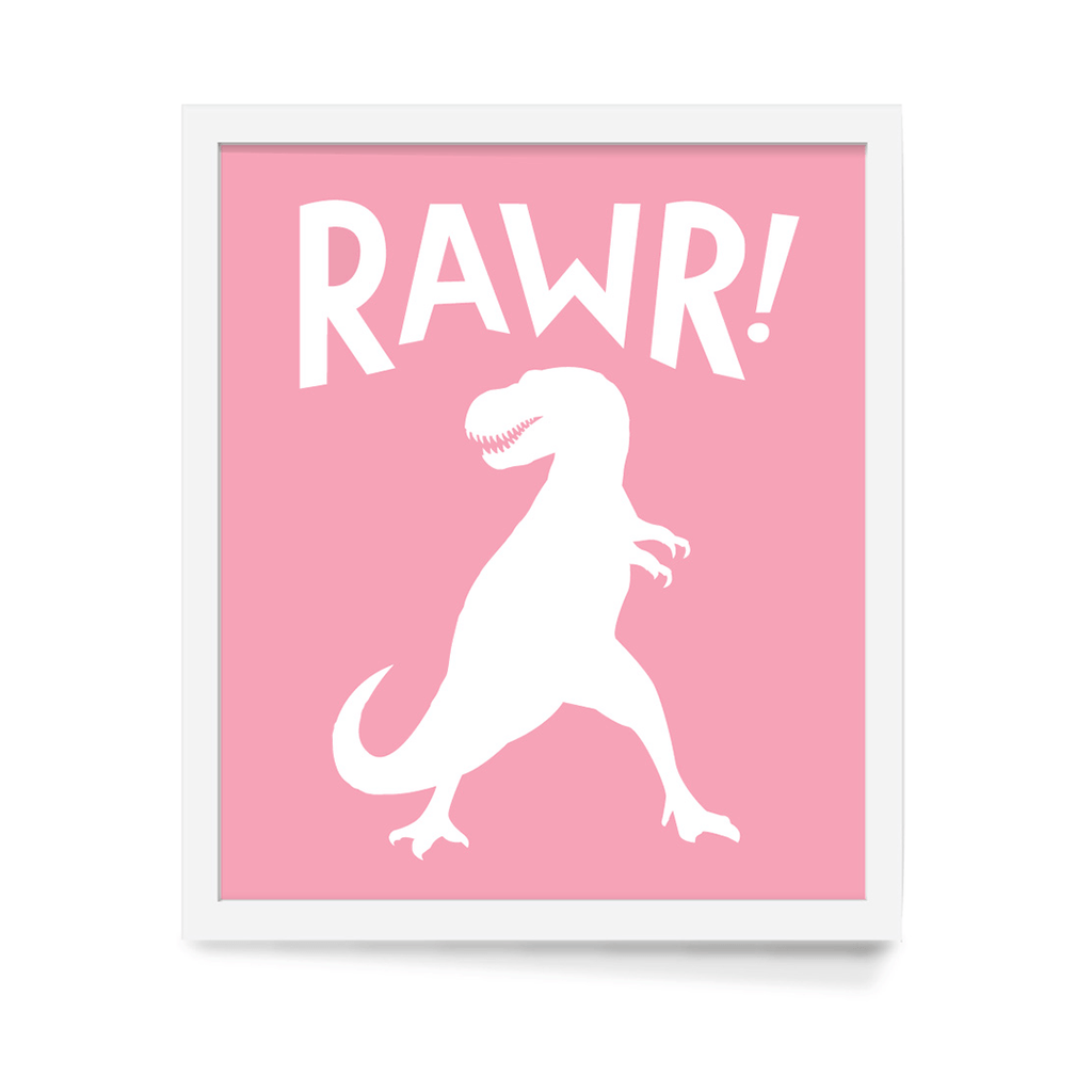 Rawr! Art Print Pink - The Project Nursery Shop - 2