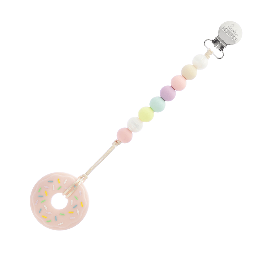 Donut Silicone Teether with Clip Pink - The Project Nursery Shop - 2