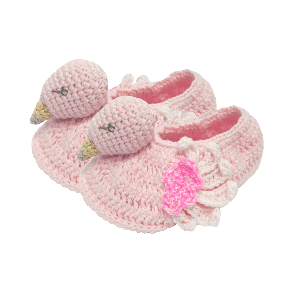 Crochet Flamingo Booties