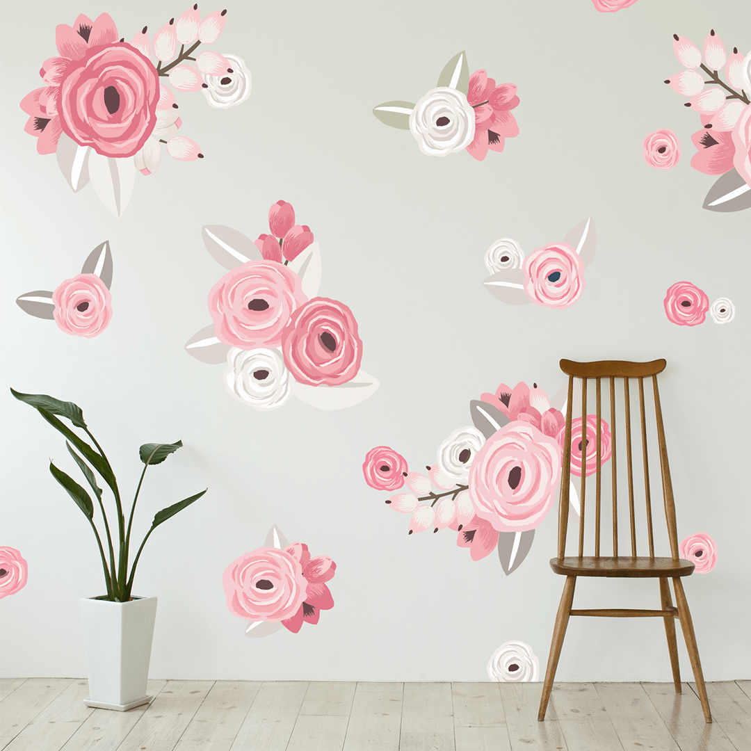 Graphic flower cluster wall decals project nursery graphic flower cluster wall decals project nursery mightylinksfo