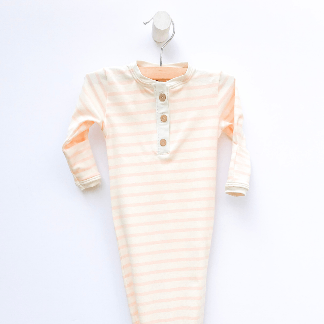 Pink Stripe Sleep Gown - Project Nursery