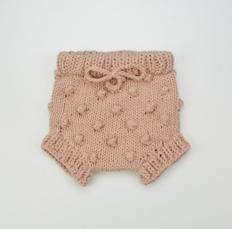 Popcorn Knitted Bloomer - Peach - Project Nursery