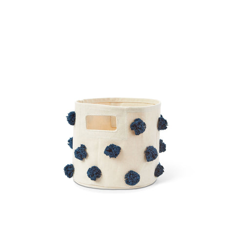 Peek-A-Boo Faces + Stripe Dots Storage Mini - Boy