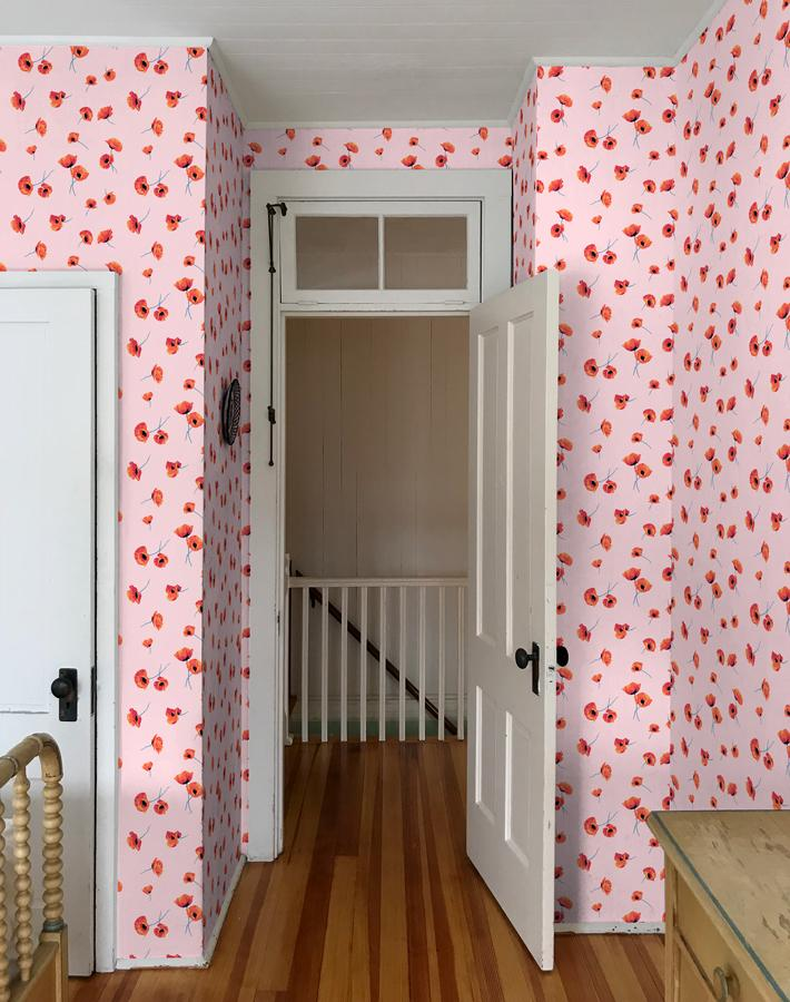Poppy Floral Wallpaper - Project Nursery