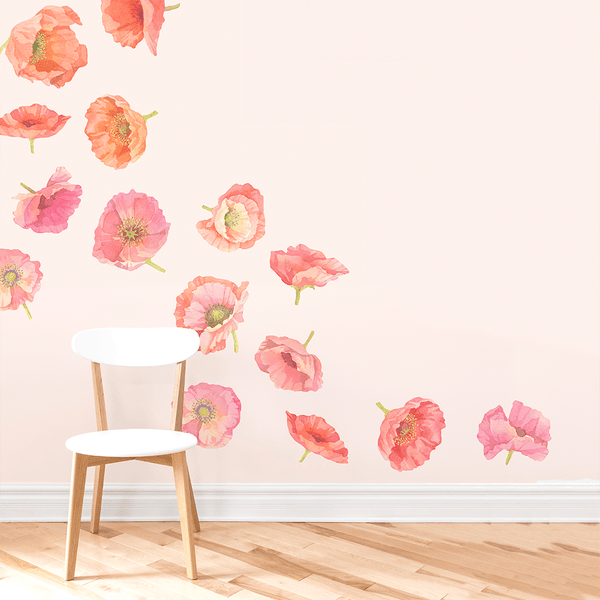 Poppy Wall Decals Large Project Nursery