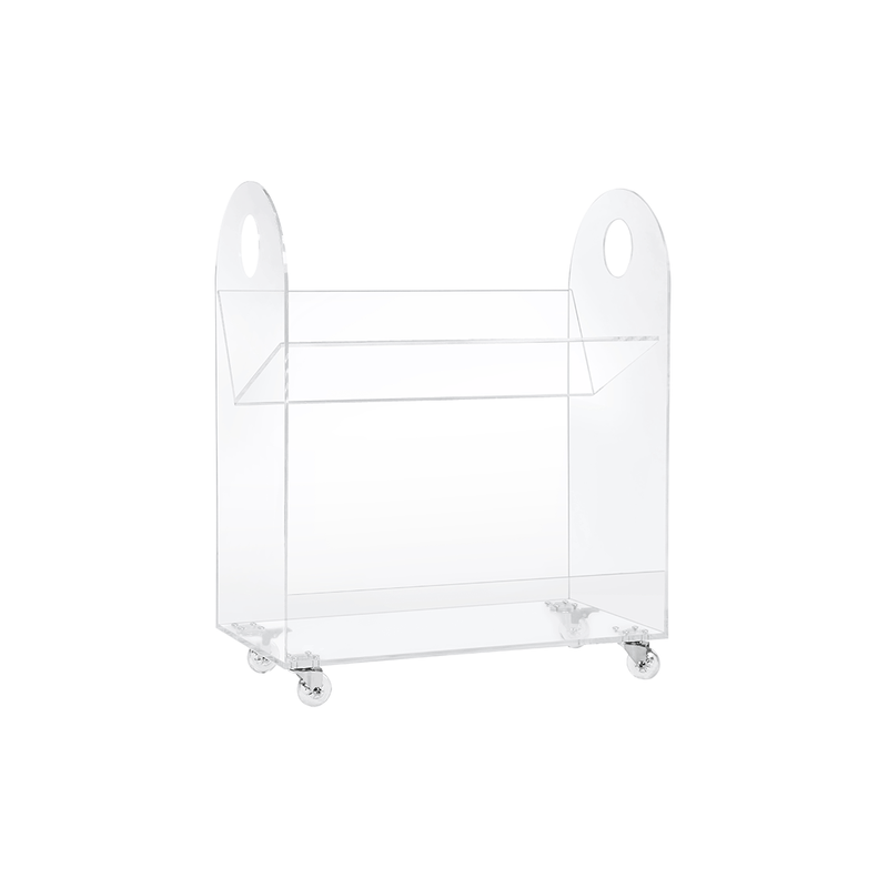 Presto Acrylic Bookcase and Cart - Project Nursery