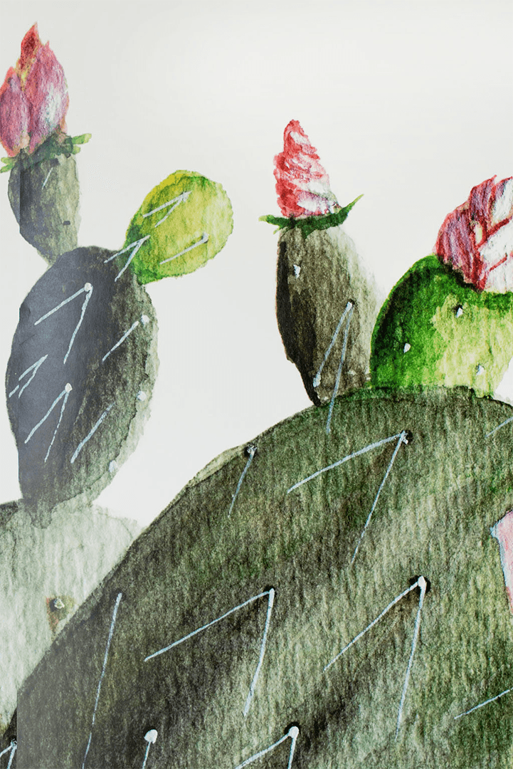 Prickly Pear Cactus Mural - Project Nursery