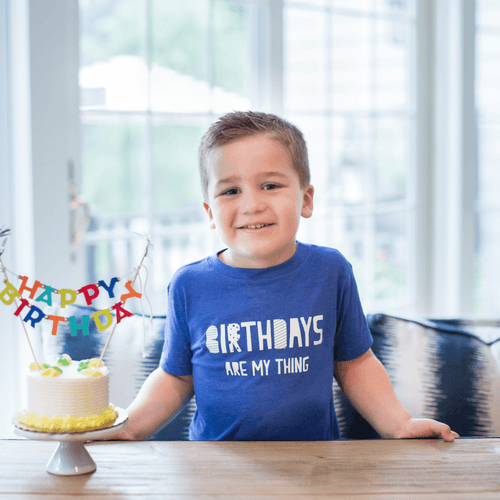 Birthdays Are My Thing Toddler Tee - Project Nursery