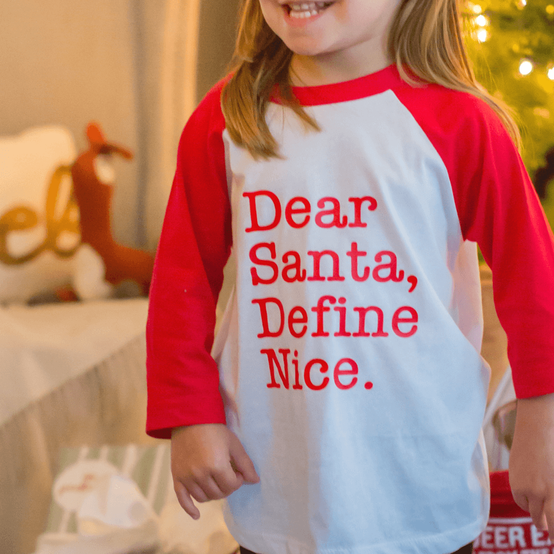 Dear Santa, Define Nice Toddler Tee - Project Nursery