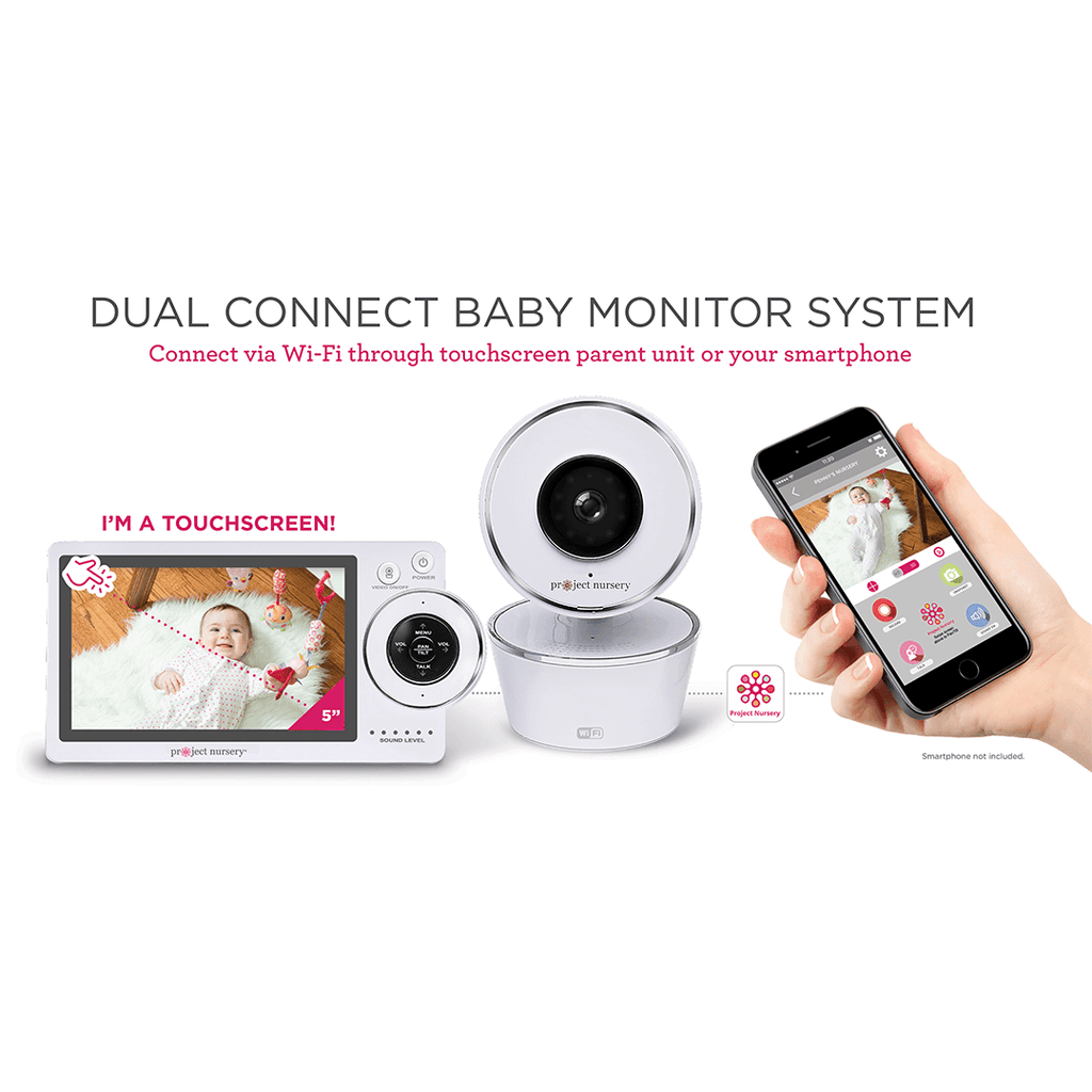 project nursery 5 hd dual connect wi fi baby monitor system shop project nursery. Black Bedroom Furniture Sets. Home Design Ideas