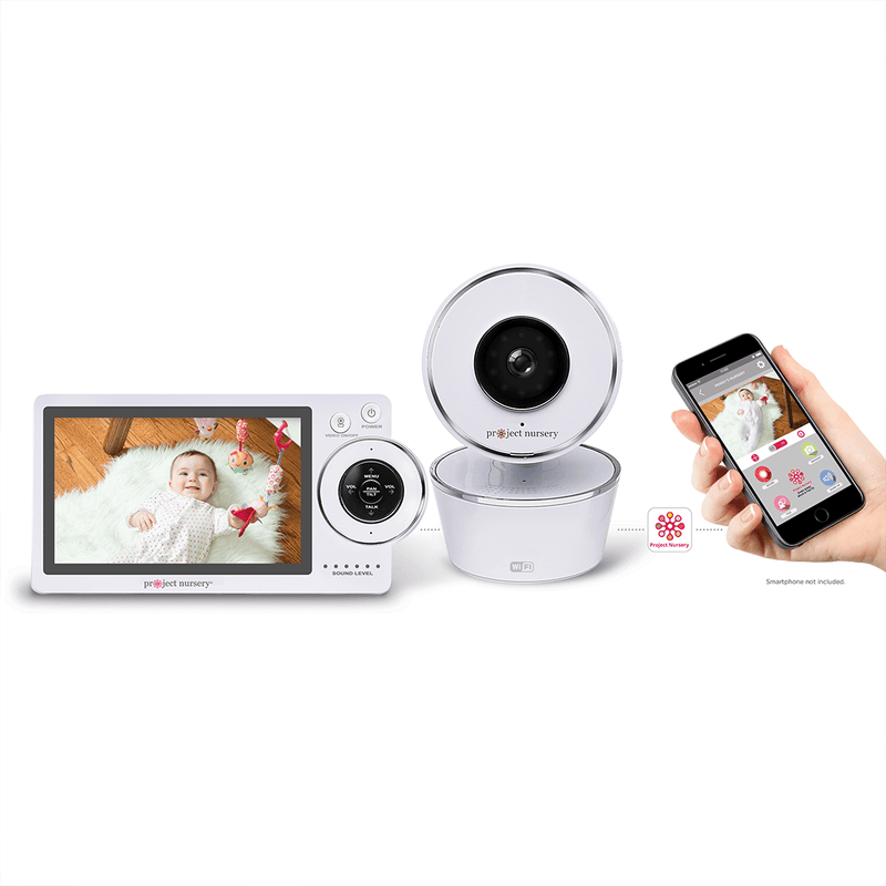 "Project Nursery 5"" HD Dual Connect Wi-Fi Baby Monitor System - Project Nursery"
