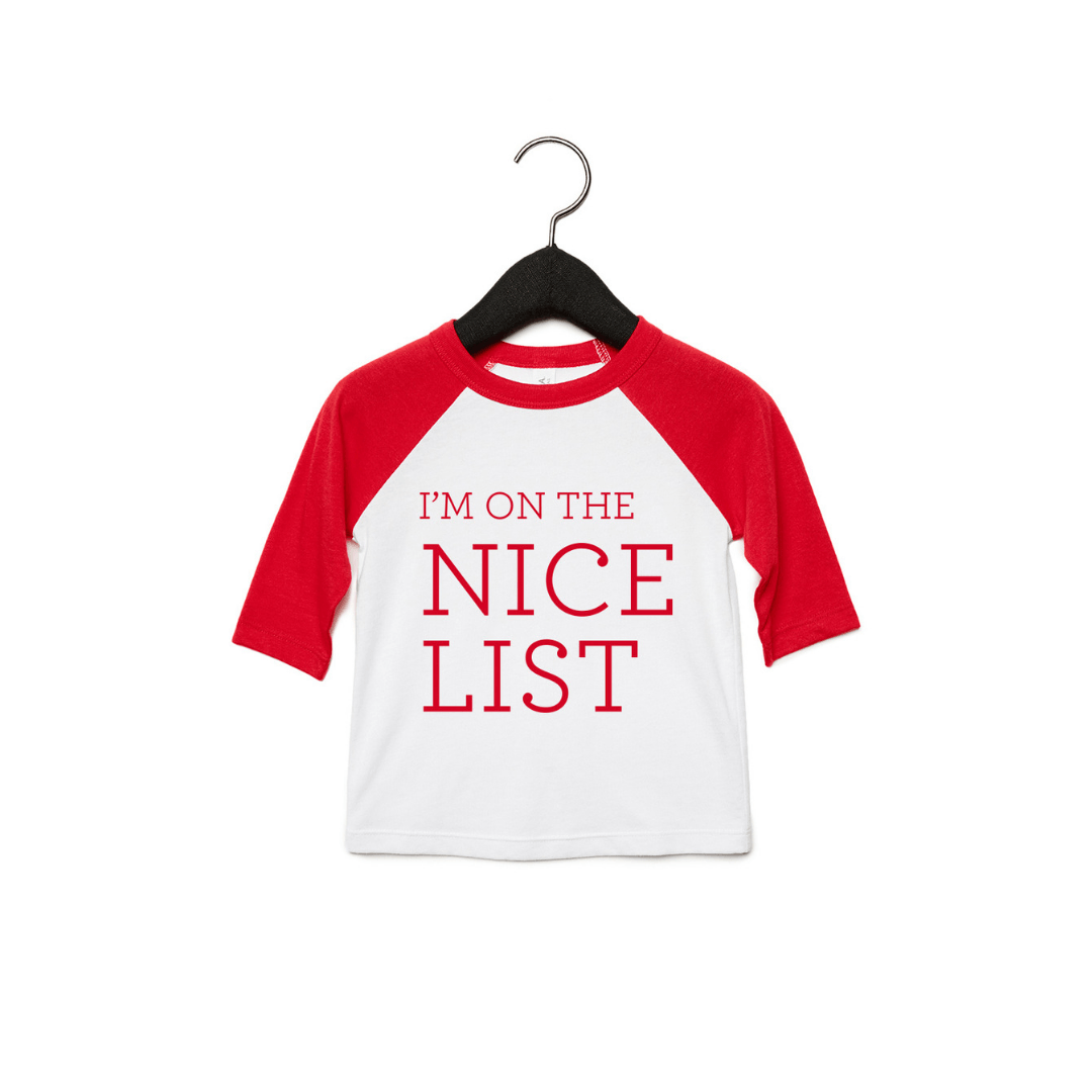 I'm On the Nice List Toddler Tee - Project Nursery
