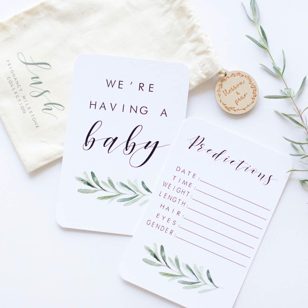 Pregnancy Milestone + Moment Cards - Lush Collection - Project Nursery