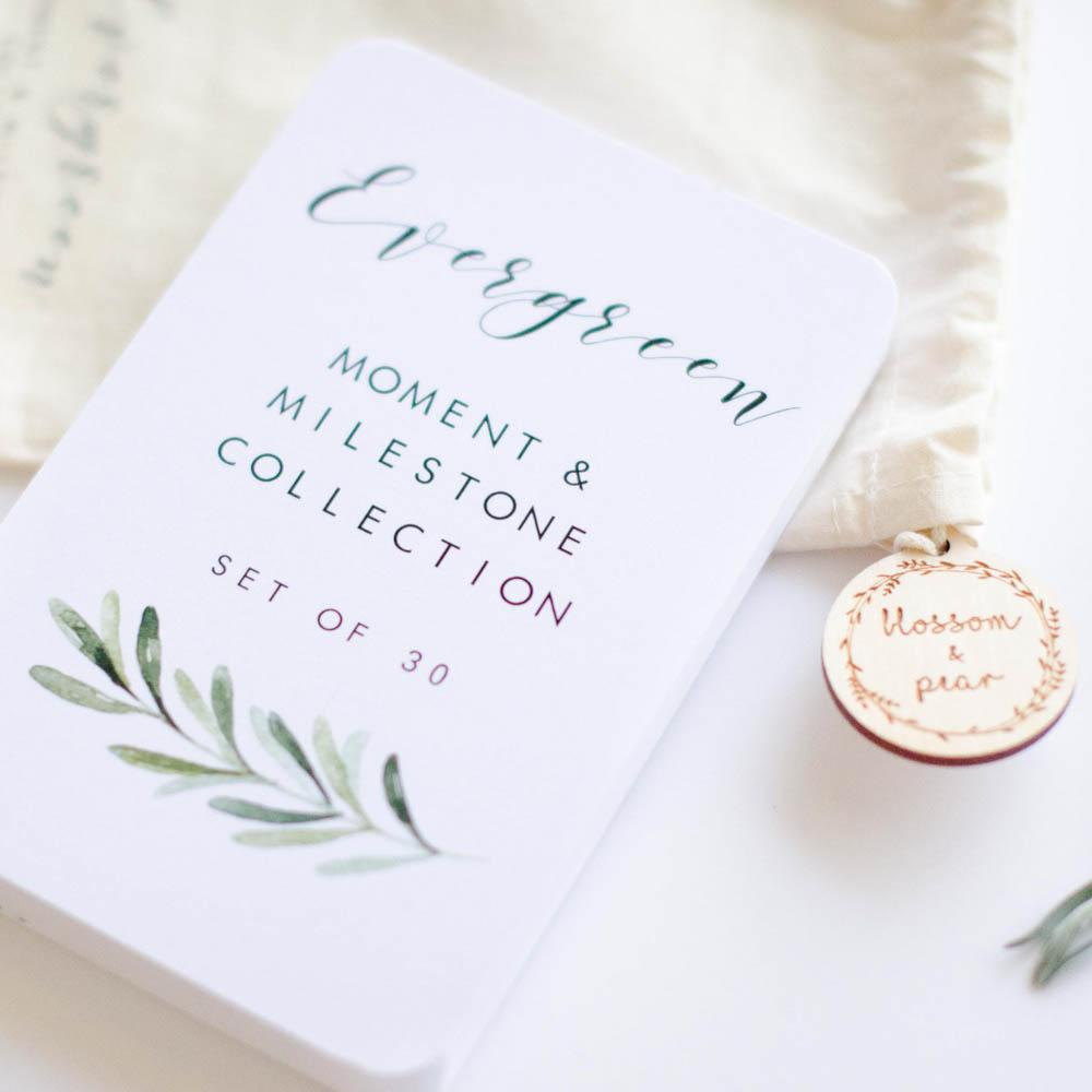 Baby Milestone + Moment Cards - Evergreen Collection - Project Nursery