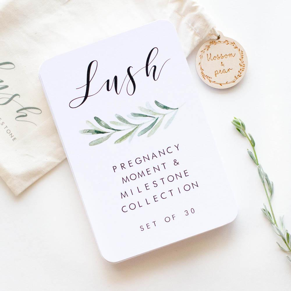Pregnancy Milestone + Moment Cards - Lush Collection