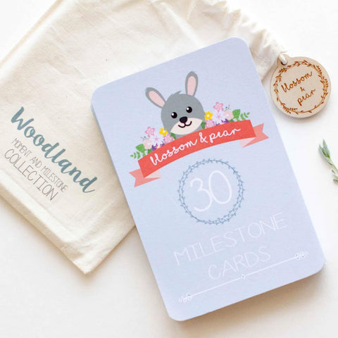 Twin Baby Milestone + Moment Cards - Woodland Collection