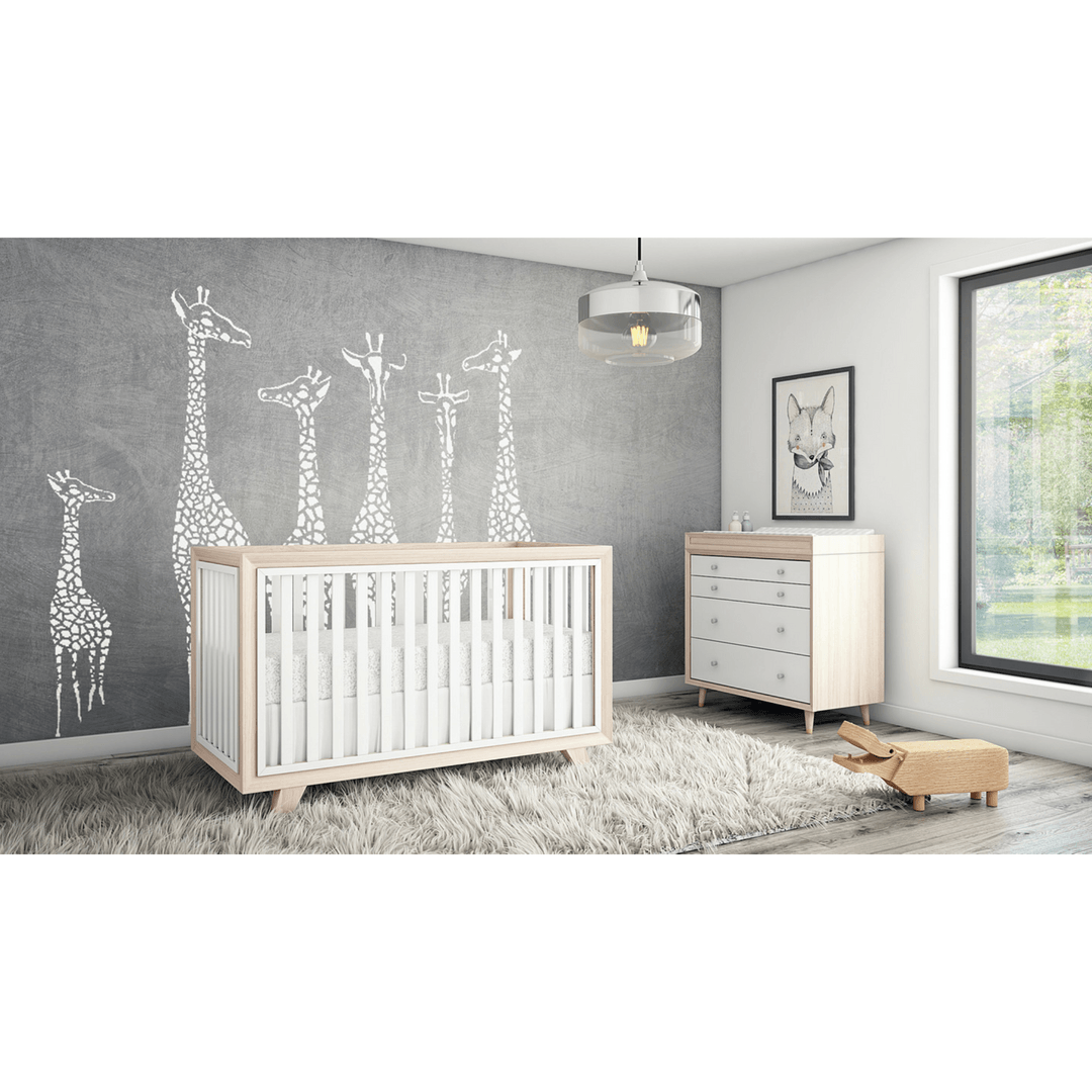 Project Nursery Wooster Crib in Two Toned Almond + White - Project Nursery