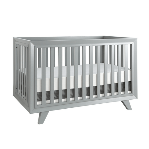 Project Nursery Wooster Crib in Two Toned Almond + White
